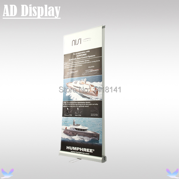 85*200cm 5PCS Exhibition Premium Double Side Aluminum Roll Up Banner Display Stand,Portable Pop Up Banner,Trade Show Equipment(China (Mainland))