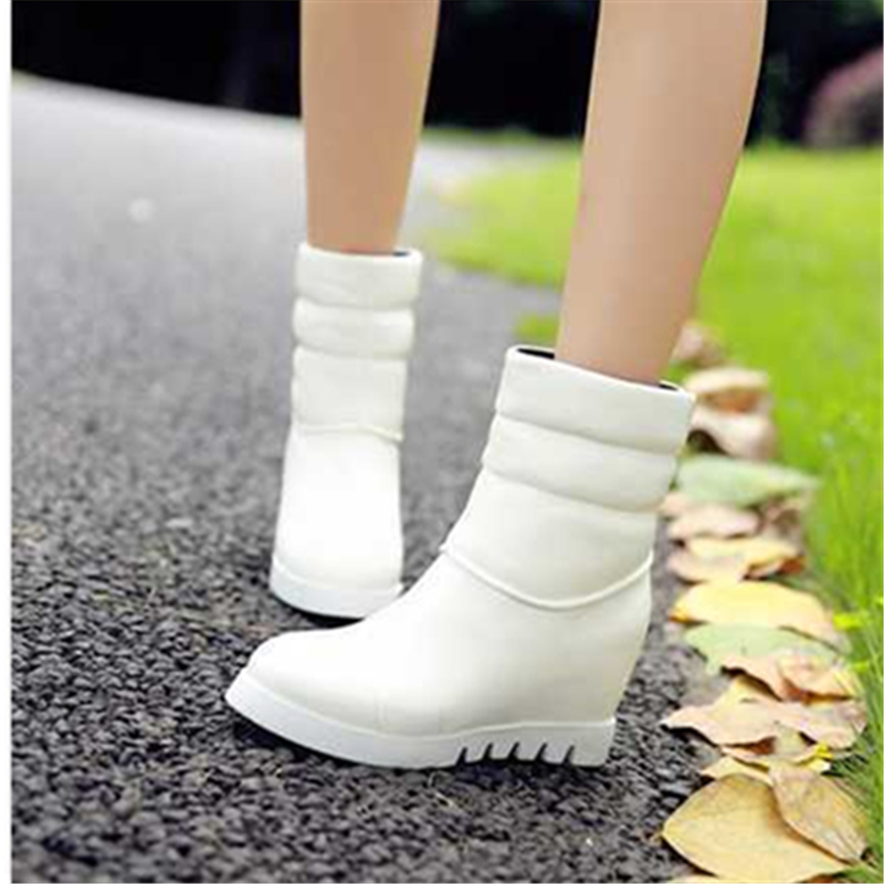 Fashion Womens Ankle Boots Shoes Faux Leather Womens High Heels Boots Shoes 2015 Womens Snow Boots Platform Shoes