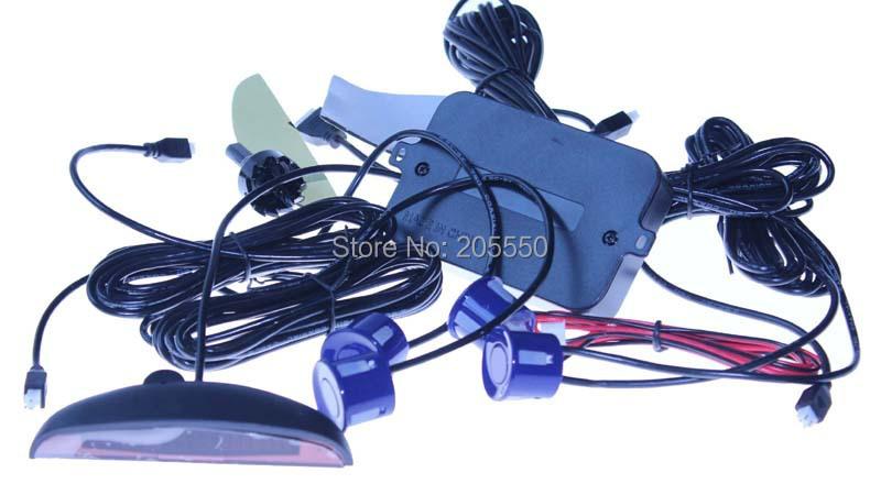 Car LED Parking Sensor Monitor Auto Reverse Backup Radar Detector System + LED Display + 4 Sensors 6 colors to choose wholesale(China (Mainland))