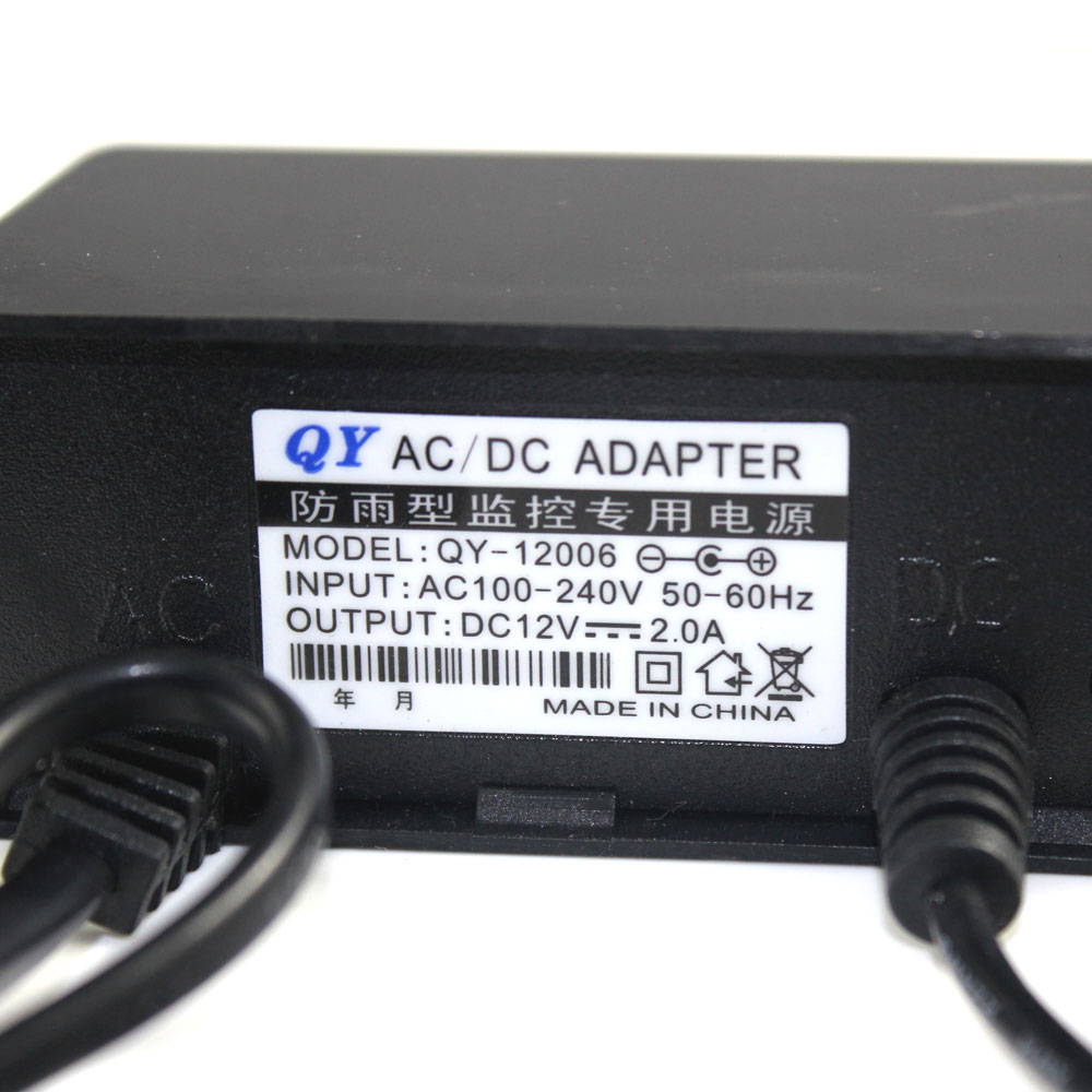 Waterproof US Plug AC 100-240V to DC 12V 2A 2000mA Power Supply Converter Adapter Charger for IP camera CCTV camera <br><br>Aliexpress