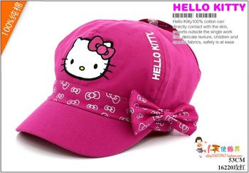 Free shipping new arrival hello kitty  Cap Spring and summer child sun hat girls sun hat children cap beret 53cm