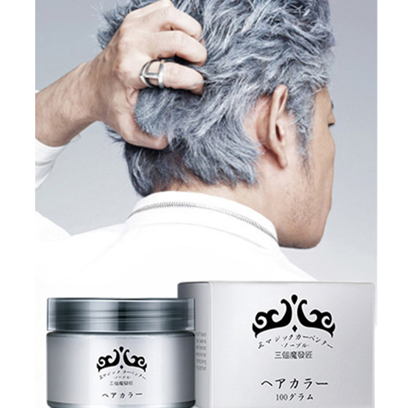 Silver Wax 120ml Men and women Professional Hair wax,long-lasting Moisturizing Styling Fluffy Matte Stereotypes Hair Gel Pomades