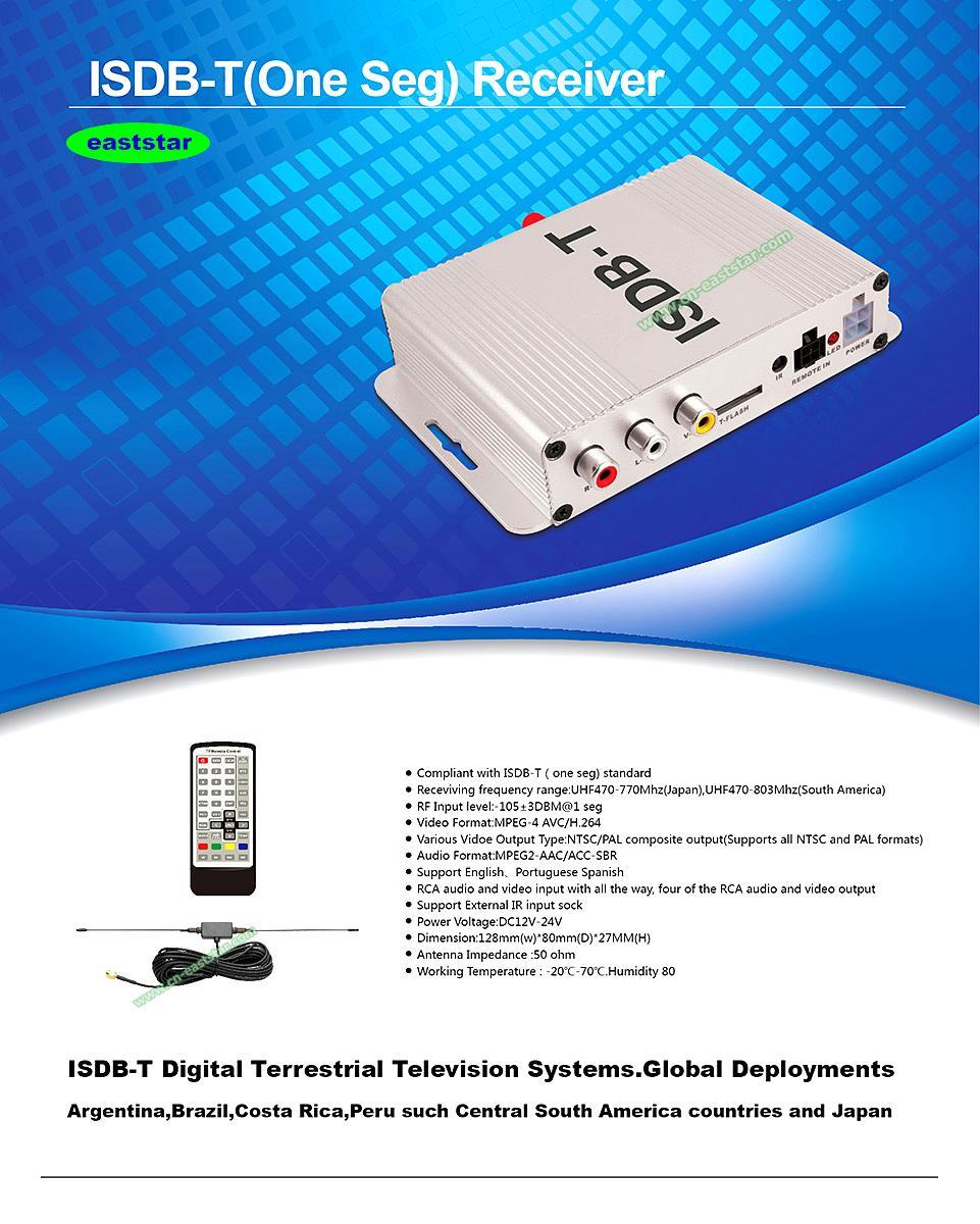 wholesale Car ISDVB-T Mobile Digital TV Box mpeg4 AVC H.264 Car TV Receiver Brazil Chile Venezuela Japan etc 3pcs/lot ES-P001(China (Mainland))