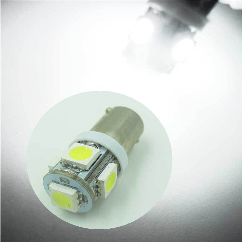 10 PCS T11 BA9S 5050 5-SMD LED Xenon White side Light Bulb Car wedge 12V Lamp 360 Parking door light T4W 3886X H6W 363(China (Mainland))