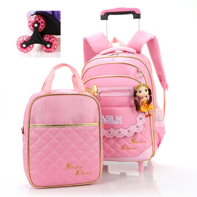 Chidren's Backpack Fashion School Bag Trolley Backpack For Children Thick Mesh Shoulder Strap Kids Bags mochilas 2016new(China (Mainland))