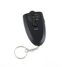 2016 New Professional Alcohol Breath Tester Breathalyzer Mini Keychain Portable Professional Breath Analyzer Red Light LED(China (Mainland))