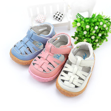 2015 new fashion 0 - 1 - 2 years old male outdoor soft sole girls shoes baby toddler sandals genuine leather baby shoes(China (Mainland))