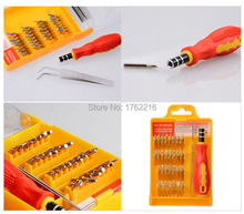 32 en 1 Unidades Micro de bolsillo Kit de destornilladores de precisión destornillador magnético del teléfono celular caja de herramienta de reparación