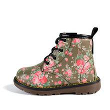 2019 sonbahar lastik çizmeler bebek ayakkabı deri çocuk botları 6 renk çiçek rahat çocuk ayakkabı kızlar için çizmeler boyutu 21- 30(China)