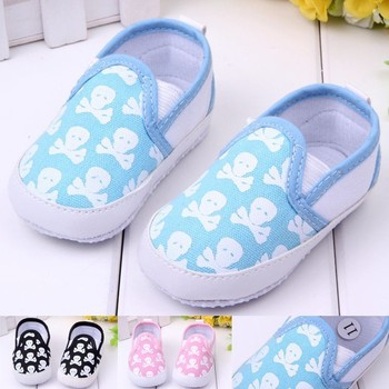 Fashion Spring&Autumn Baby Shoes Cool Skull Antiskid Toddlers Shoes Baby shoes First Walkers Free & Drop Shipping