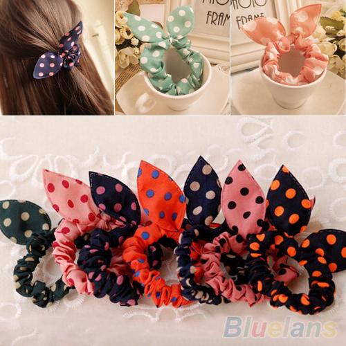 10Pcs Rabbit Ear Hair Tie Bands Accessories Japan Korean Style Ponytail HolderОдежда и ак�е��уары<br><br><br>Aliexpress