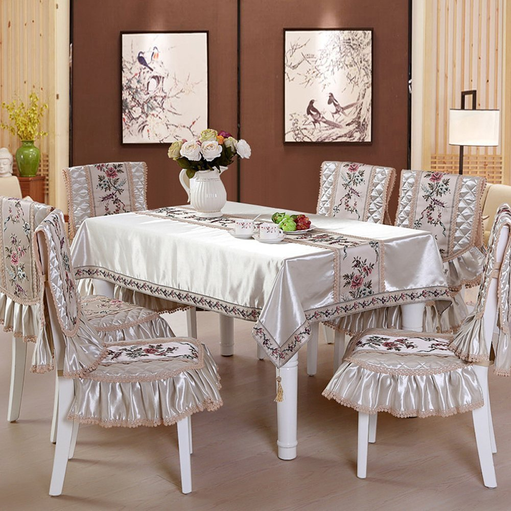 Tablecloth Tea Table Cloth High-Grade Silk Square Table Cloth for Dining Room and Wedding(China (Mainland))