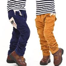 New children boys pants winter baby boy casual pants kids jeans boys trousers thicker corduroy pants(China (Mainland))