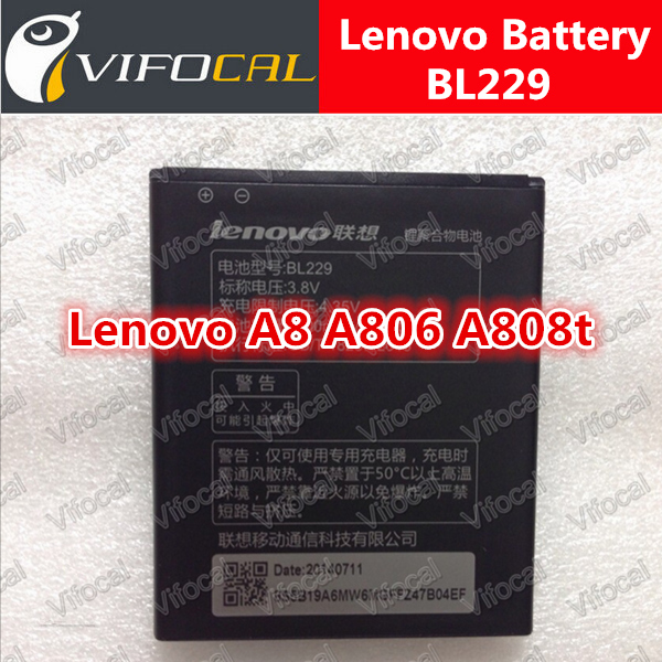 Lenovo A806 Battery New In Stock 100% Original BL229 2500Mah Battery For Lenovo A8 A806 A808t Smart Mobile Phone + Free shipping