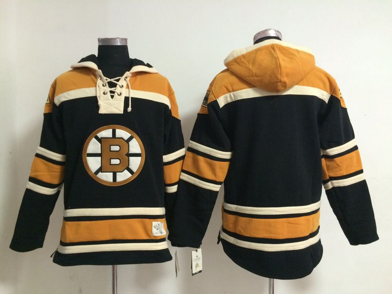 Wholesale Boston Bruins Mens Ice Hockey Hoodies Blank Yellow,Embroidery and Sewing logos,Mix Orders(China (Mainland))