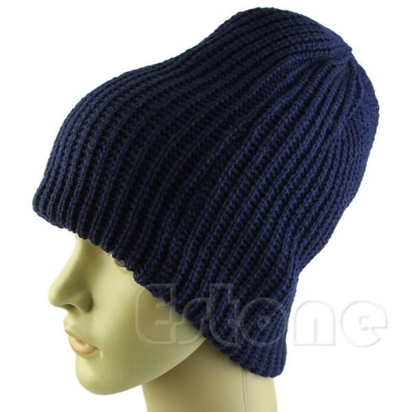 Men Women Slouchy Oversize Cap Winter Knit Ski Beanie Skull Warm Hat Unisex
