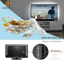 Buy LED Strip USB SMD3528 Lights 50CM 1M 2M 3M Cable LED 5V USB Strip Light TV Background Lighting Non Waterproof Holiday lights for $2.87 in AliExpress store