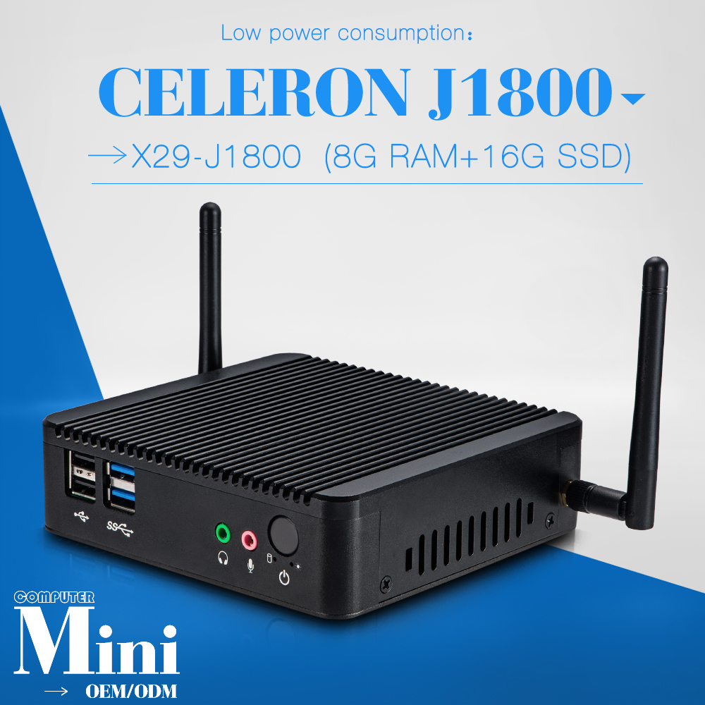 very small but powerfull PC J1800 desktop computer industrial Computer smallest computer 8G RAM 16G SSD WIFI(China (Mainland))
