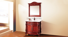 red brown oak, volakas white marble cabinet and mirror, Bathroom Vanities(China (Mainland))