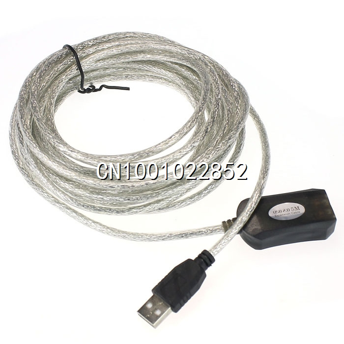 5M USB Active Repeater Cable Extension Lead Plug Extender For Computer(China (Mainland))
