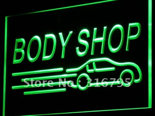 i821-g Body Shop Auto Car Display NEW LED Neon Light Sign Wholeselling Dropshipper On/ Off Switch 7 colors DHL(China (Mainland))