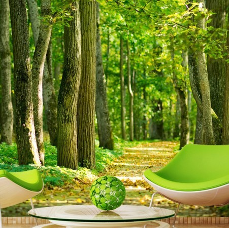Buy size custom 3d nature green tree for 3d nature wallpaper for wall