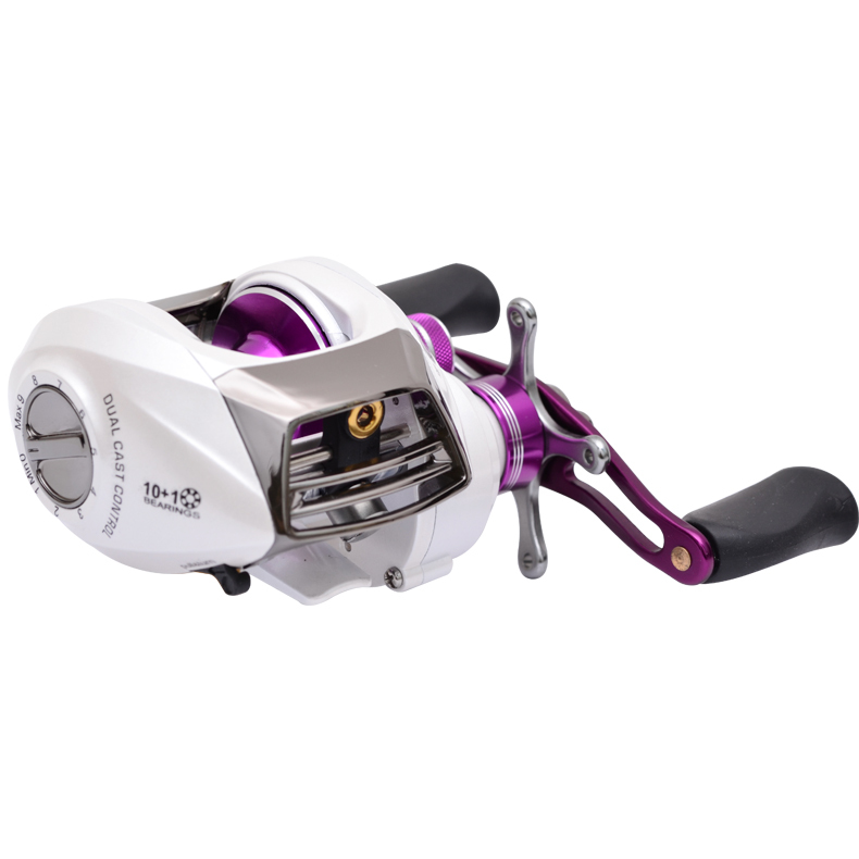 New arrival!Trulinoya baitcasting reel left hand 10+1BB seawater-proof,dual cast control,promotion price,free shipping(China (Mainland))