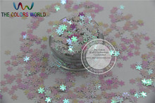 ZXHB-30 Amazing Glitter Sequins Snowflake shape ornament accessory for nail Art or other DIY decoration 1pack=50g(China (Mainland))