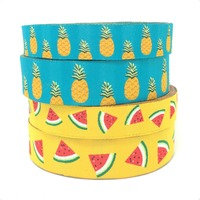 christmas dog clothes accessories yellow watermelon and blue pineapple 16mm 5/8