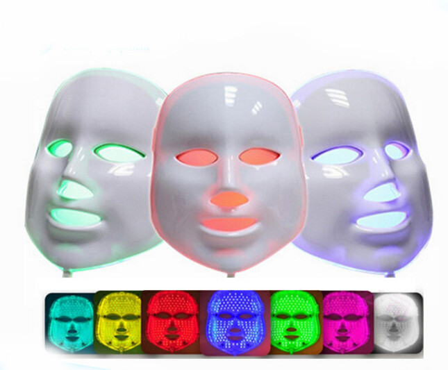 Фотография Wrinkle Removal Beauty Machine PDT Anti-Aging Mask Therapy 7 Colors Photon Device LED Facial Mask Skin Rejuvenation Electric