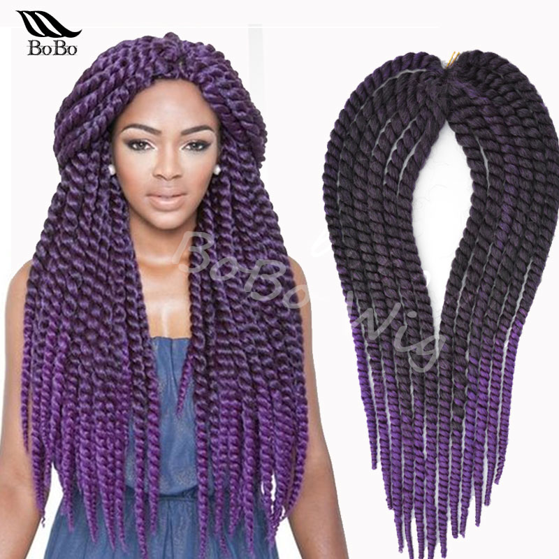 afro kinky synthetic braiding hair jumbo crochet twist box braids ...