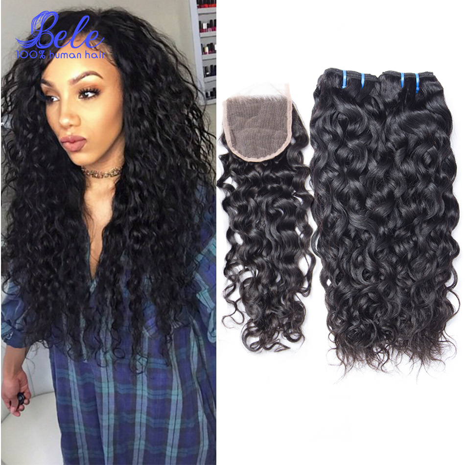 Wet And Wavy Human Hair Closure 113