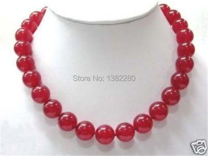 "Free shipping! fashion DIY jewelry 12mm Red Ruby Round Beads Jasper Necklace 18"" 2 pieces/lot fashion jewelry JT6609(China (Mainland))"