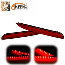 For Mazda 3 Accessories LED Auto Red Lens Rear Bumper Reflector Light Parking Warning Brake Stop Fog Lights Tail Reflectors Lamp(China (Mainland))