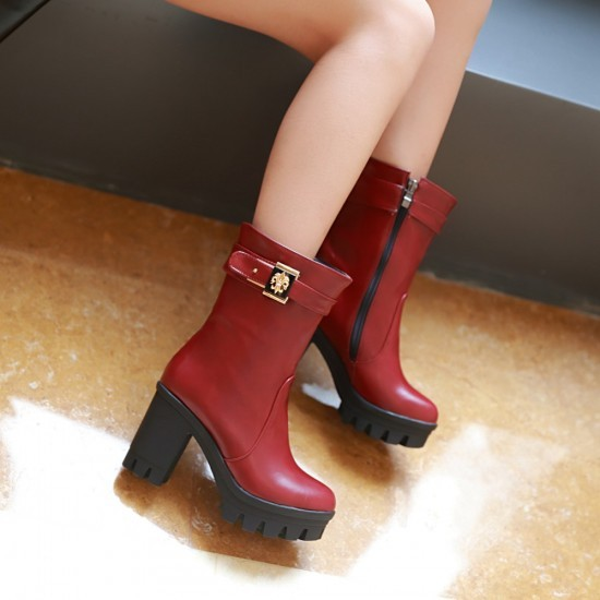 2015 Autumn Suede Fringed Boots Wedge High Heel Mid Calf Wedding Shoe Bridal Shoes Wild Section Red Hot Sell Free Shopping