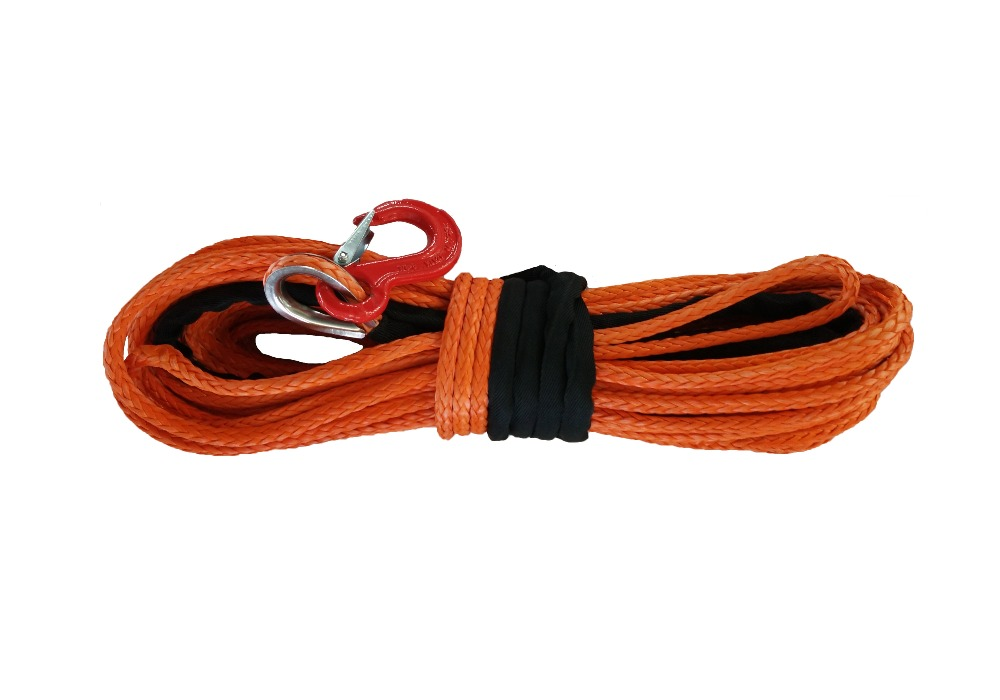 6mm x 40m Synthetic Winch Line UHMWPE Rope With Hook For ATV/UTV Towing Ropes Free Shipping(China (Mainland))