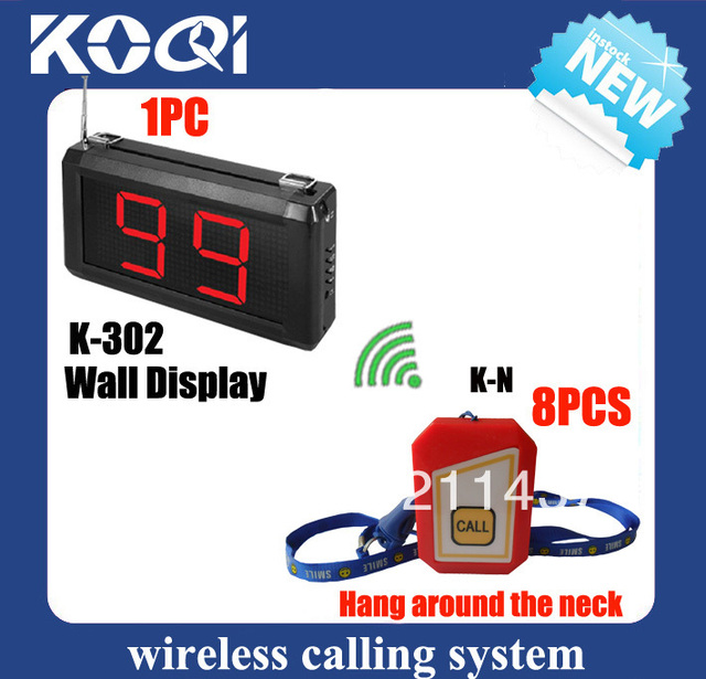 Hospital nurse call system K-302 pager for nurse call station and K-N buzzer 12v can be hung around the neck DHL freeshipping
