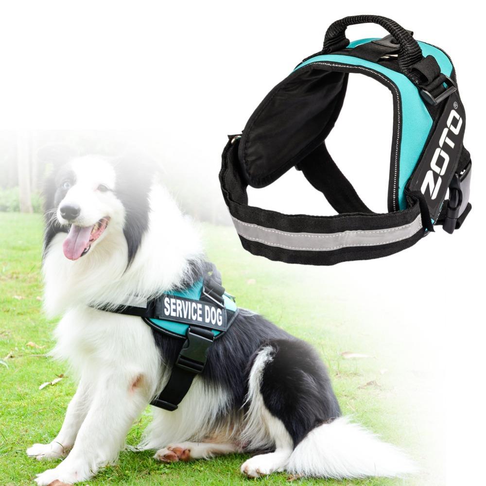 Nylon Dog Harness Vest Collar For Medium Large Dog Leads Puppy Reflective Harness Service Dog Training Vest for Running Travel(China (Mainland))