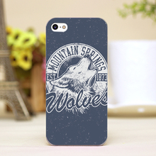 pz0024-1-10 wold head tattoo Design Customized cellphone cases For iphone 4 5 5c 5s 6 6plus Shell Hard Skin Shell Case Cover
