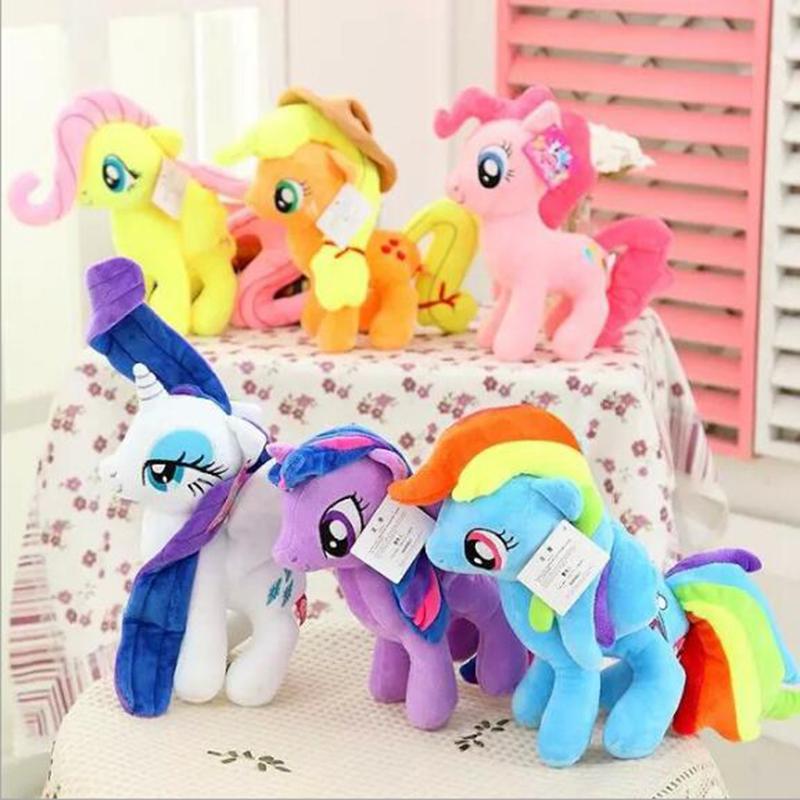 Big Size 6 Colors 2017 Fresh Plush Unicorn Horse Stuffed Animals Toys 30cm Baby Infant Girls Toys Birthday Gift Rainbow Dash(China (Mainland))