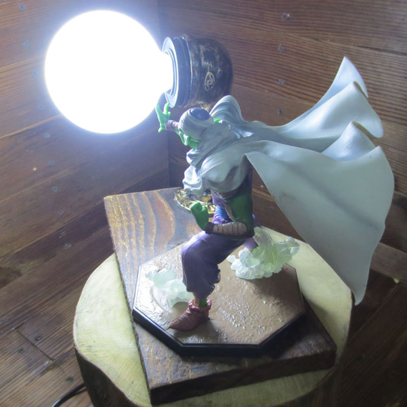 Cool! Dragon Ball Z Figure Son Goku Genki Bomb PVC Figure Dragonball Z DIY Display Model Toy Piccolo Namek+Ball+Base(China (Mainland))