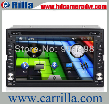 Universal 2 Din 6.2 inch Car DVD with GPS Car Radio,Bluetooth,IPOD Support,3G/ WIFI optional ,Free 4G SD Card with map