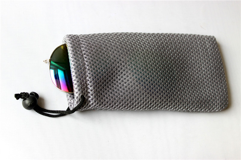 Free shipping Glasses Case Soft Waterproof Plaid Cloth Sunglasses Bag Glasses Pouch colored contact lenses(China (Mainland))