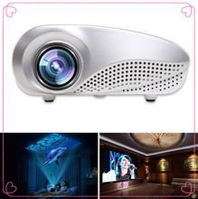 2016 Free Gift Mini Led Projector Home Multimedia Cinema LED Projector HD 1080P Support AV TV VGA USB HDMI SD (China (Mainland))