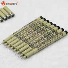4pcs / Lot Know High Quality Brush Micron Fine Line Drawing Pen Sketch Pens Hook Line Pen Painting Pen(China (Mainland))
