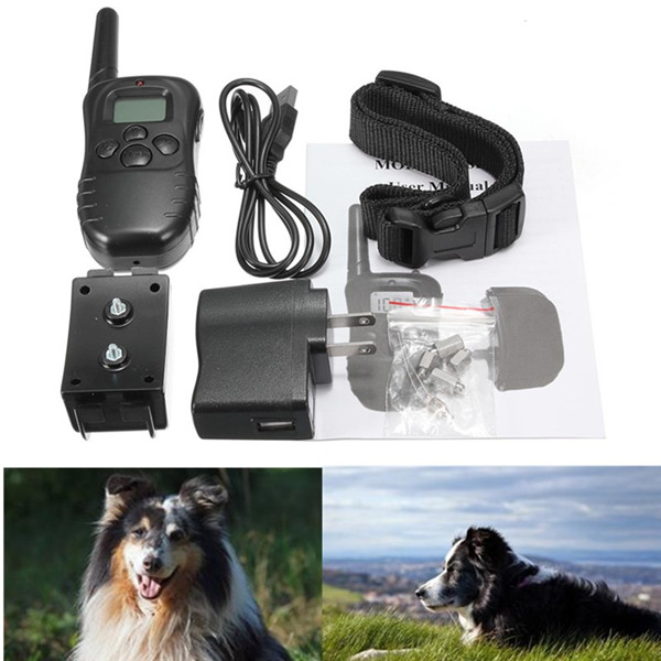 Newest Hot Sale 300M Rechargeable And Waterproof Shock Vibra Remote Control LCD Electric Pet Dog Training Collar(China (Mainland))