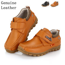 Free shipping 1pair Genuine Leather Shoes Children Sneakers Sports Cheap Boy shoes,breathable kid shoes(China (Mainland))
