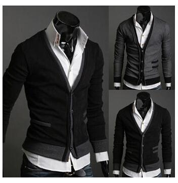 2015 new men sweater The fake pocket zipper cloth man imported abb sports coat(China (Mainland))