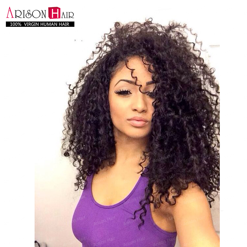 150 density Brazilian Lace Front Wigs Kinky Curly Glueless Lace Front Human Hair Wigs Virgin Hair Afro Curly Full Lace Wigs