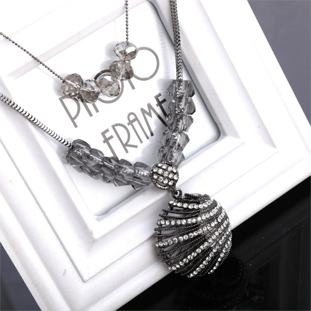 2015 Sale Accessories South Korea Korean High-grade Hollow Shell Sweater Necklace Jewelry Wholesale Long Paragraph Chain(China (Mainland))
